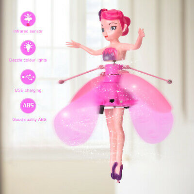 Cute Flying Fairy Magic Infrared Induction Princess Doll For Girls Birthday Xmas