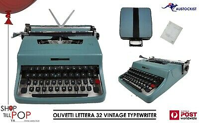 OLIVETTI LETTERA 32 Italian Portable Typewriter-Case/Manual Excellent cond' 1963