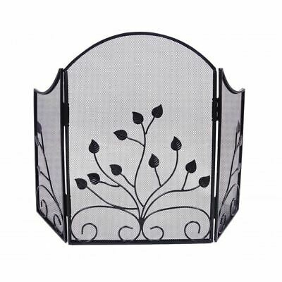 Ivy Design Iron Fire Screen Powder Coated - Fast & Free Delivery