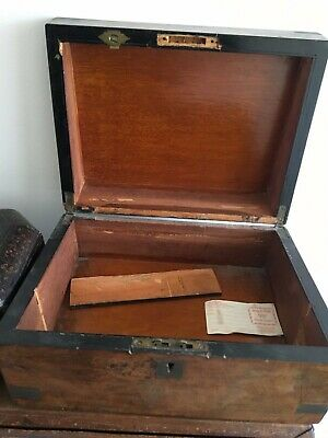 antique burr walnut document / writing box slope restoration