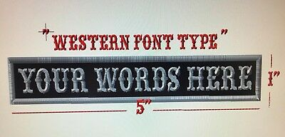 Your Name Here Personalized Patch Badge Biker Mod Harley Scooter Trike Military,