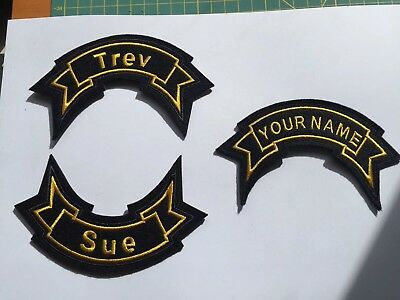 Personalized Ribbon name patch Customize it With Your Text Biker Scooter Mod