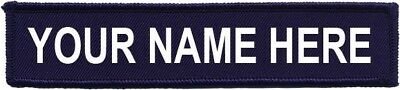 "Embroidered 5""X1"" Name Patch Hook And Loop Navy Army AirSoft Paintball Molle"