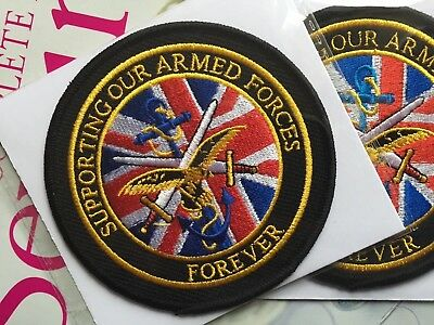 Embroidered Support our Armed Forces Patch Badge ,Military Biker Mod Morale vet