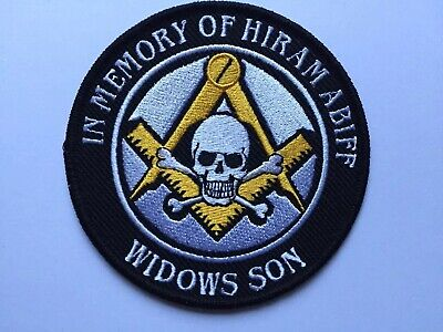 Widows Son Hiram Abiff Limited Edition Gold Square and Compass Patch Masonic !