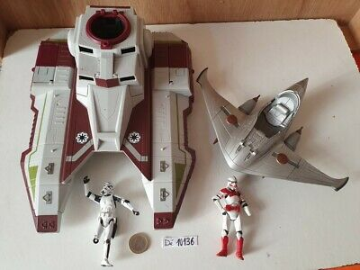 (76) STAR WARS  lot de 02 vaisseaux + 02 figurines   ... EN L'ETAT !!