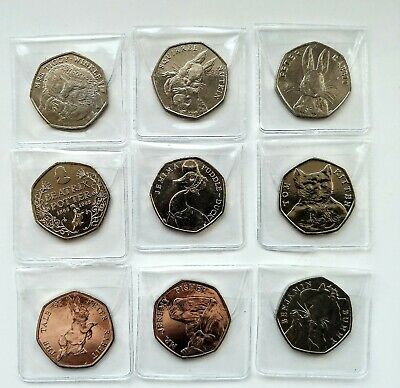 Beatrix potter 50p uncirculated. Including Jemima puddleduck. 2016/17 sets