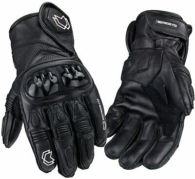 WFX Short Leather Best Knuckle Protection Motorbike Motorcycle Gloves Racing