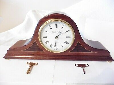 Knight & Gibbins Wooden Striking Mantle Clock Franz Hermle Brass Mechanism