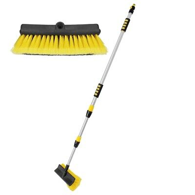 Water fed extendable telescopic pole wash brush 3m long cleaner cleaning tool