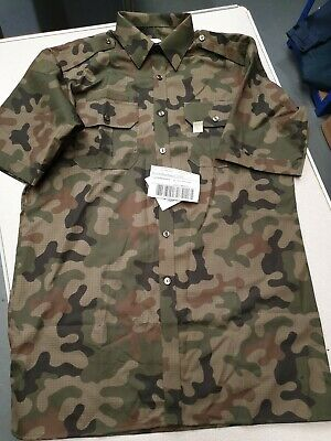 """Genuine Unissued Polish Army Ripstop Field Combat Shirt Camouflage Military 41"""""""