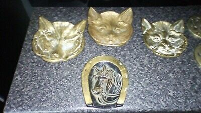 Antique C.1910 Solid Bronze Brass Footed Cat Pin Change Dish Tray!