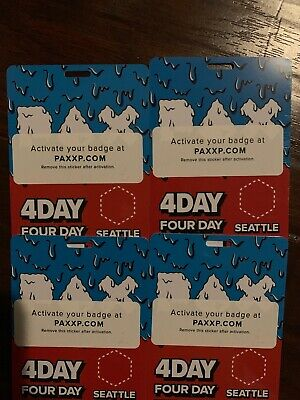 Pax West Badge 2019 4 Day Friday Saturday Sunday Monday Ticket