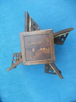 Unusual Antique Japanese Inlaid Marquetry Wooden Cigarette Box / Smoking Cabinet
