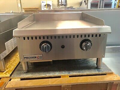 "New 24"" Griddle Flat Grill Thermostat Temperature Commercial Natural Propane"