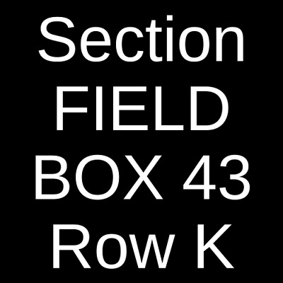 3 Tickets Zac Brown Band 9/1/19 Fenway Park Boston, MA