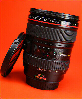 Canon EF 24-105mm F4 L IS USM Lens  Sold With Front & Rear Lens Caps