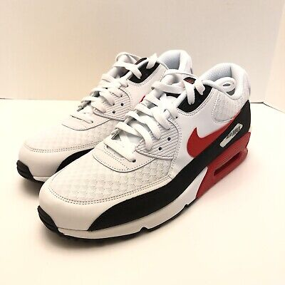 new product 116c0 4ff9f NIKE AIR MAX 90 White University Red Black Mens Size 11.5 BV2522-100 New