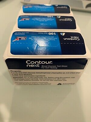 Bayer Contour Next Blood Glucose 300 Test Strips Expiration Date 12/31/2020