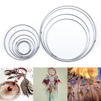 10 Pack Dream Catcher Dreamcatcher Metal Rings Hoops Craft Hoop Handmade Hanging