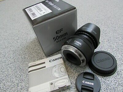 Genuine Canon EF 50mm 1:1.8 STM Lens (KM48)
