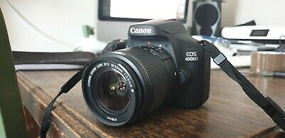 Canon EOS 4000D DSLR Camera + 18-55mm Zoom Lens kit with Battery, Charger & Bag