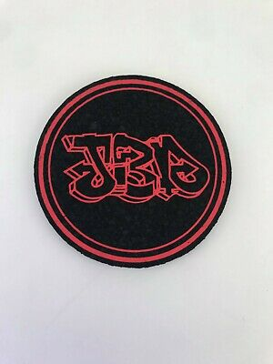 Jerome Baker Designs - Circle Mat Pad Coaster - Jbd Circle - Red - Uv Reactive