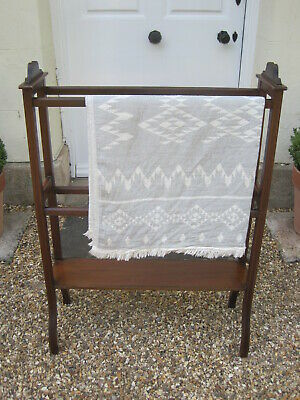 Early 20th Century Antique Mahogany Towel Rail, Quilt Disply Stand ##