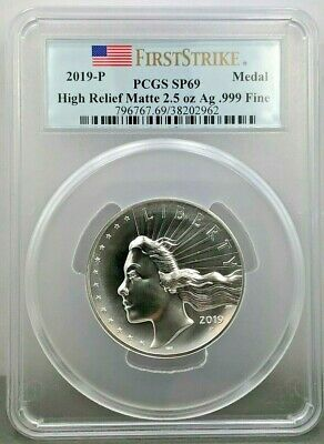 2019-P Silver 2.5 oz. American Liberty High Relief PCGS SP69 FS Flag Label--LIVE