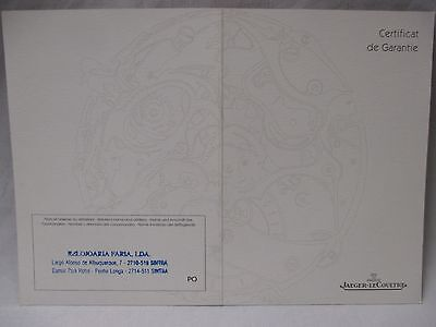 Jaeger-LeCoultre Ideale Watch 460.1.08 Dealer Stamped Guarantee Certificate 2005