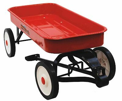 Red Metal Wagon Giant Vintage Long Reach Ride Toy Cart Kids Gift Item Toys New