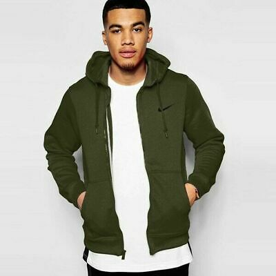 fast delivery cheap for sale outlet on sale NIKE CLUB FLEECE Olive Green Full-Zip Hoodie Hooded ...