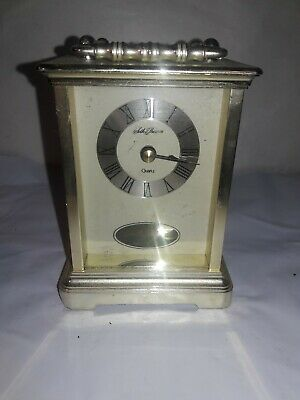 Seth Thomas Quartz Carriage Mantel Shelf Clock With Pendulum Model #243Tested