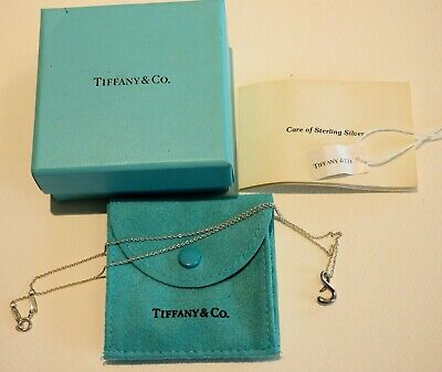 """Tiffany & Co Paloma Picasso 16"""" Inch Necklace Sterling Silver 925 Initial S"""