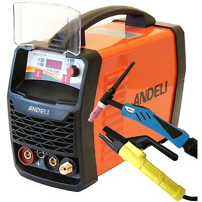 250Amp Hf Ignition Tig/Mma Dc Inverter Welder 2 In 1 Machine Duty Cycle 60% +Kit