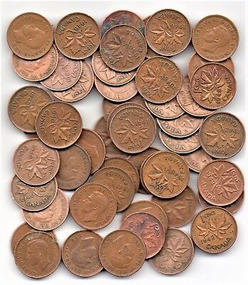 Canada 1 Cent Roll King George VI 1940-1952 Mixed Dates