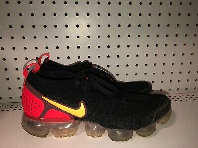 Nike Air Vapormax 2 Flyknit Mens Athletic Running Shoes Size 8 Black Red Orange