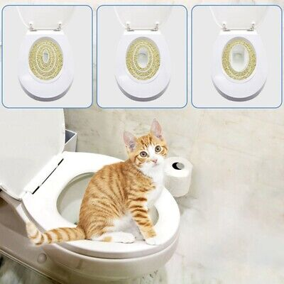 Pet Dog Cat Toilet Seat Cover Toilet Tray Trainer Training Plate Clean Hygienic