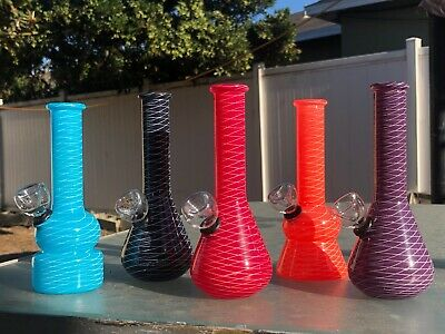 Hookah Glass Water Pipe 6'' Bong W Tobacco Smoking Bowl Assorted Colors US FREE