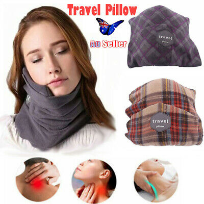 T-Pillow Portable Soft Comfortable Travel Pillow Proven Neck Support AU