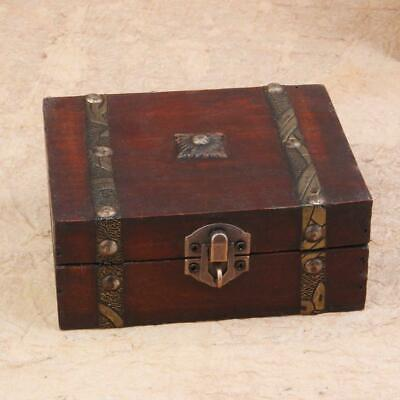New Vintage Antique Wooden Storage Box Gift Storage Box Hot Small Jewelry S I5D6