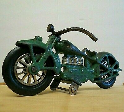 Rare & Large Antique Circa 1930 Vindex Cast Iron Henderson Motorcycle Original