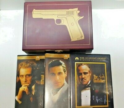 The Godfather Trilogy Wooden Box Set DVDs