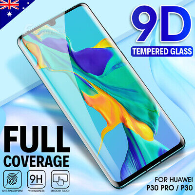 Huawei P30 Pro P30 9D Full Coverage Tempered Glass Screen Protector Film Guard