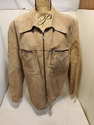 Genuine Leather jacket made in Mexico Size 44