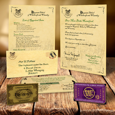 Harry Potter Magical Christmas Gift Hogwarts Acceptance Letter Free Ticket