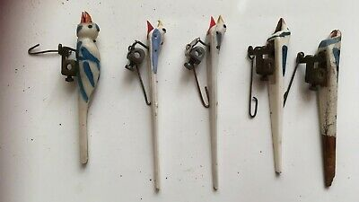 Cuckoo clock parts 5 CUCKOO CLOCK BIRDS SEE PHOTOS