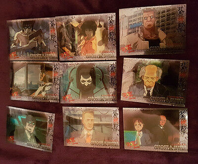 Ghost in the Shell Parallel Chase 9 card Set 01-09 1995 Chromium