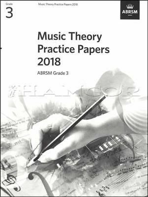 Music Theory Practice Papers 2018 ABRSM Grade 3 Past Exams SAME DAY DISPATCH