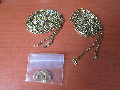 "Pair New Old Stock Cuckoo Clock Weight Chain 70""   61LPF.   (500A9)"